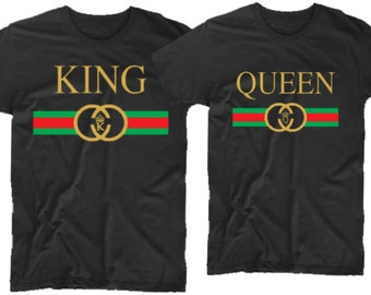 2d80fea350 King and Queen Tees Matching shirts for Couples