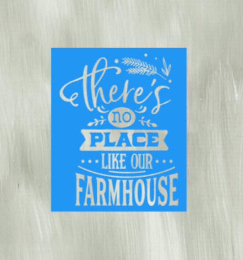 acrylic painting Farmhouse sign Mesh transfer Reusable Adhesive Silkscreen Stencil Wood chalk painting Home decor Family