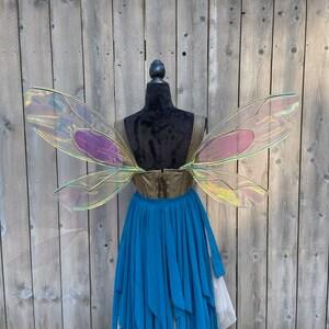 Small Ashbee Iridescent Fairy Wings Renaissance Nature Fairy
