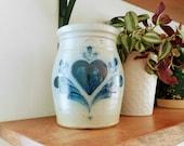 Rowe Pottery Crock Rowe Pottery With Heart Rowe Pottery 1987