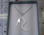 Woman 39 s Sterling Silver shoe pendant.