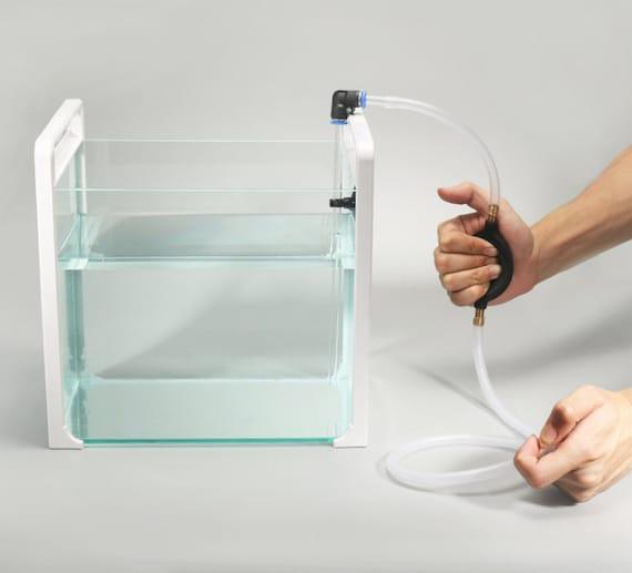 HIRO AQUATICS New Nano Aquarium Cleaner Kit//Long Nozzle Water Changer for Nano Tank Water Changing