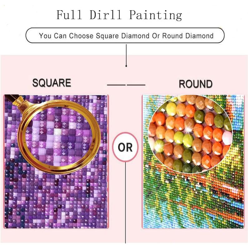 Diamond Painting Cat DIY Full SquareRound Diamond Embroidery Cat Diamond Mosaic Cartoon Rhinestone Picture Cross Stitch Manual Hobby