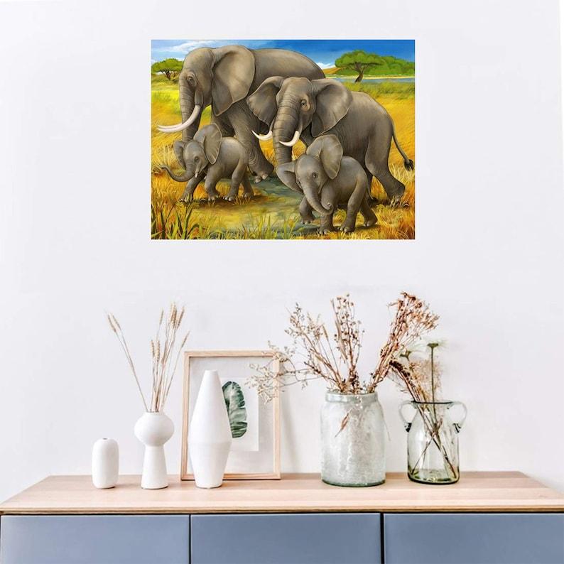 5D DIY diamond painting cartoon elephant full square rhinestone mosaic diamond embroidery cross stitch suit home decoration