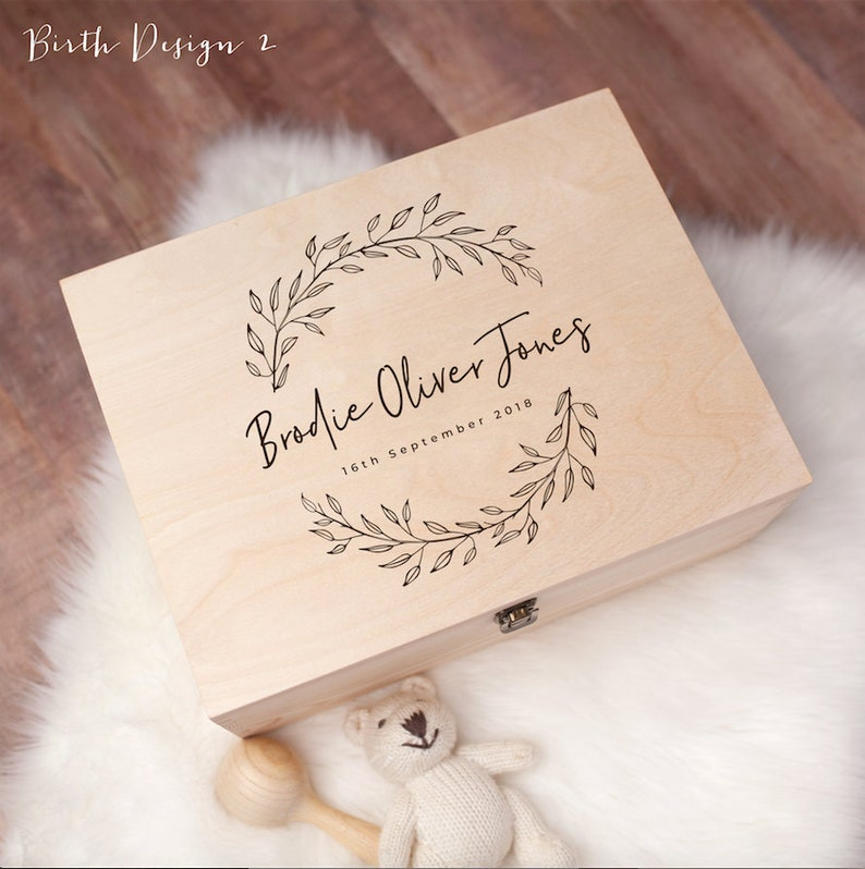 Personalised Baby Gift Keepsake Box  Personalised Baby Gifts image 0