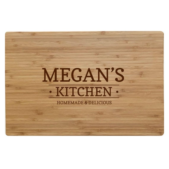 Personalised Chopping Board Serving Board Bamboo Handmade Wedding Gift