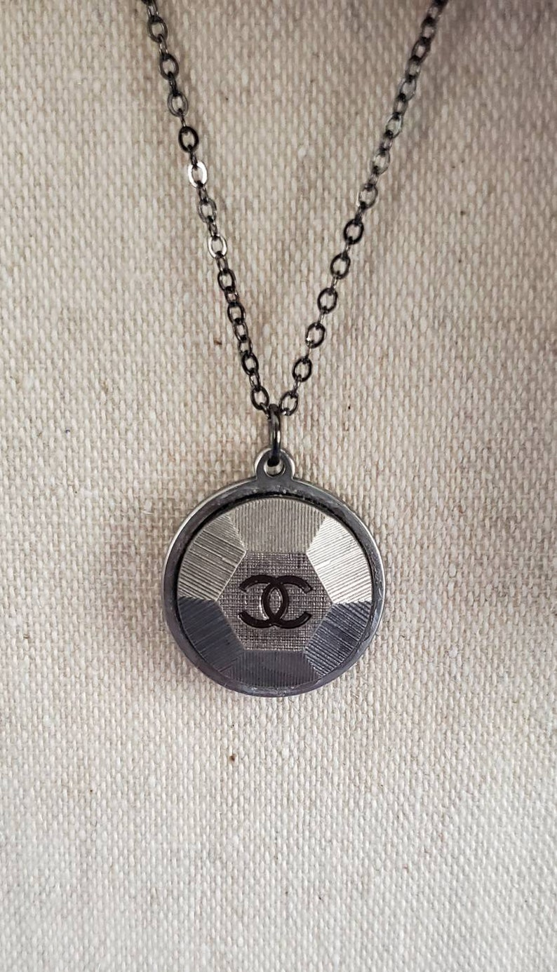 Upcycled Button Pendant Necklaces