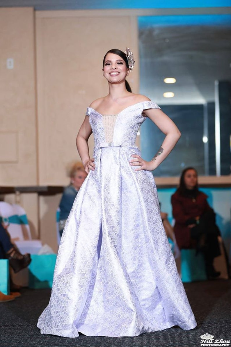 Lilac Brocade Gown image 0