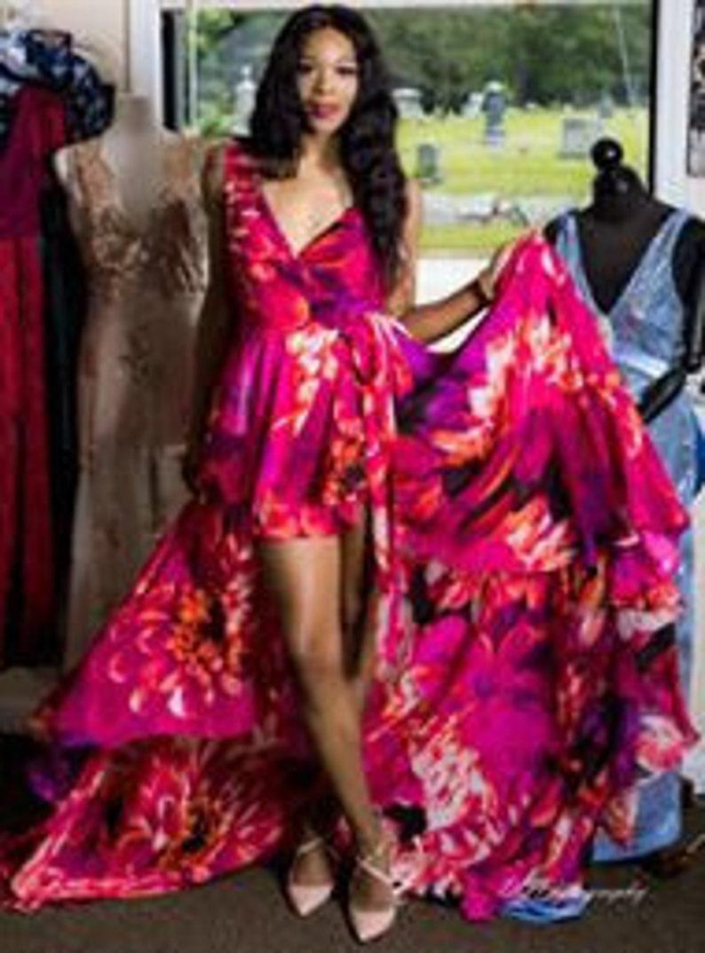 Floral Chiffon Maxi Dress image 0
