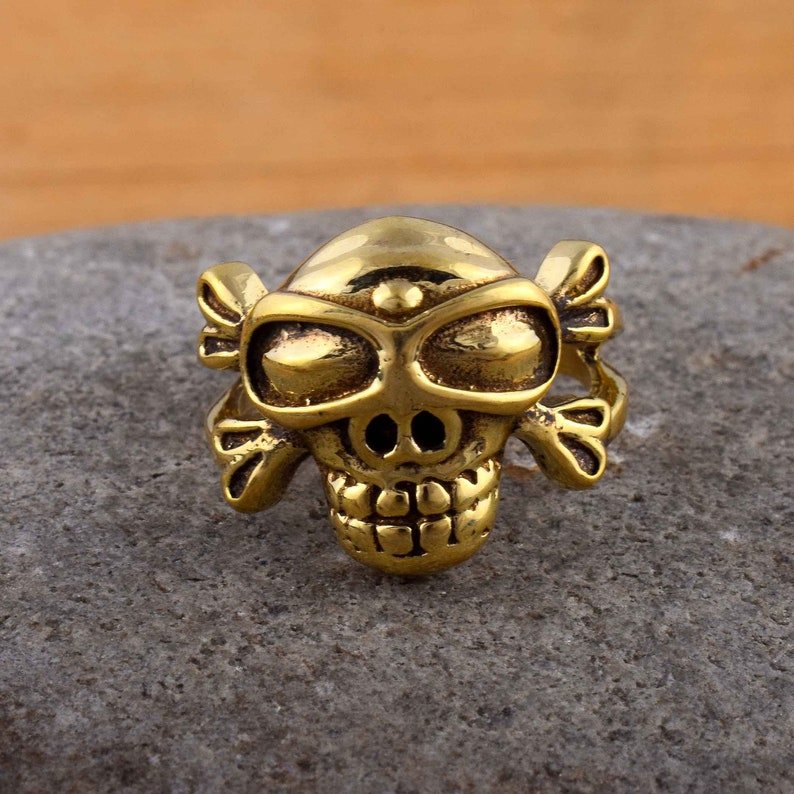 Wide Band Ring Solid Brass Ring Designer Ring Dainty Jewelry 80/% Sale Skull Style Ring Statement Ring Ring Handmade Ring Boho Ring