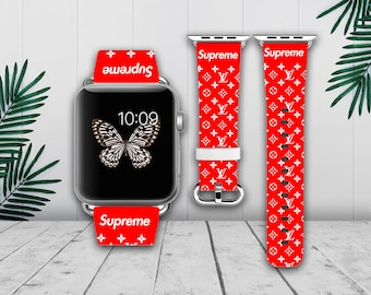 Inspired By Supreme Apple Watch Band 38mm 42mm Iwatch Leather Series 1 2 3