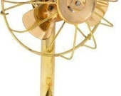 Golden Brass Metal Antique Unique Fan With 3 blades Collectible Beautiful Handicraft Fan Quality Material.Stylish Golden Antique Look.