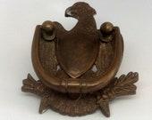 Vintage Brass Eagle Door Knocker Eagle Door Hanger