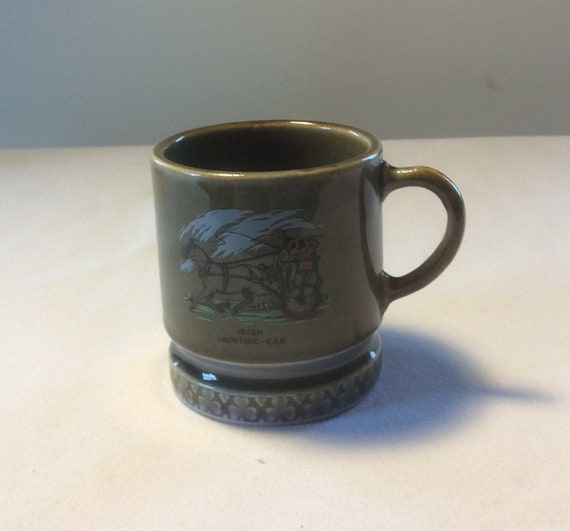Jaunting Car Mug Irish Porcelain Tankard Mug Coffee Mug Etsy