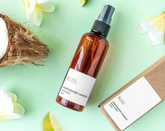 Frangipani Coconut Room Spray - New Home Gift For Her - Spa Gift For Mum - Air Freshener Spray - Aromatherapy Spray Linen Spray