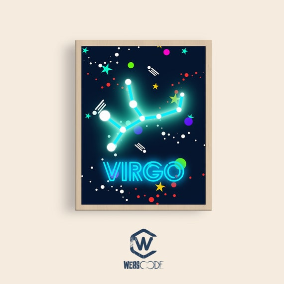 Zodiac Nursery Wall Art, Zodiac Virgo wallpapers, Printable Zodiac wall  art, Zodiac Wall decor, Zodiac Wallpapers, Boy nursery decor