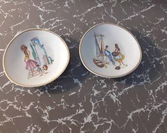 Vintage Mid Century 1950's/1960's Italian Pin Dishes