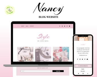 Wix Blogger Theme, Wix Website Template, Wix Blog Website, Blog Template, Wix Vlogger Website, Blogger Template, Wix Small Business Website