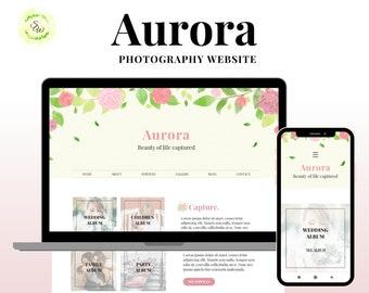 Wix Template, Wix Website Design, Wix Photography Template, Photography Website, Wix Business Website, Floral Website, Wix Portfolio Website