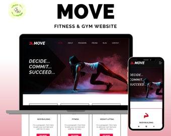 Wix Website Template, Wix Website Design, Wix Fitness Website, Wix Gym Website, Wix Sport Website, Wix Personal Training Website