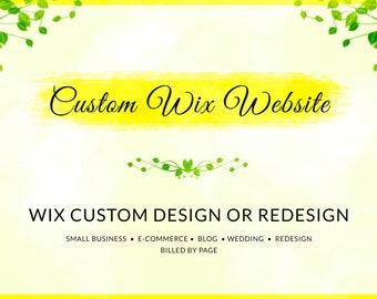 Wix Custom Website Design, Wix Website Redesign, Wix Services, Wix Template, Wix Business Website, Wix Blog Website, Wix Shop Website
