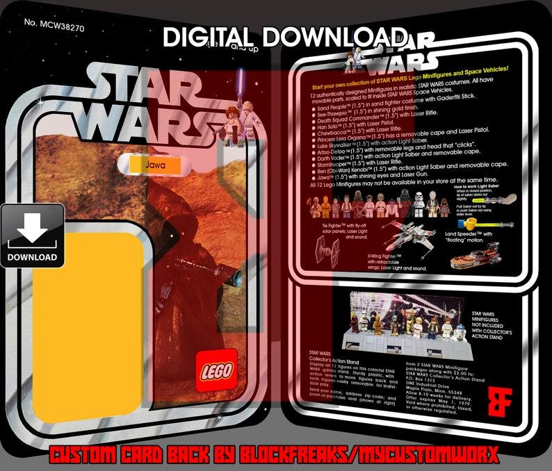 Lego Card Back Custom Star Wars Vintage 20-Back Snaggletooth Red