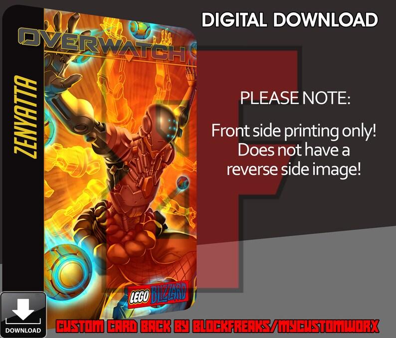 Custom Blizzard Overwatch Zenyatta Digital Download Card Back