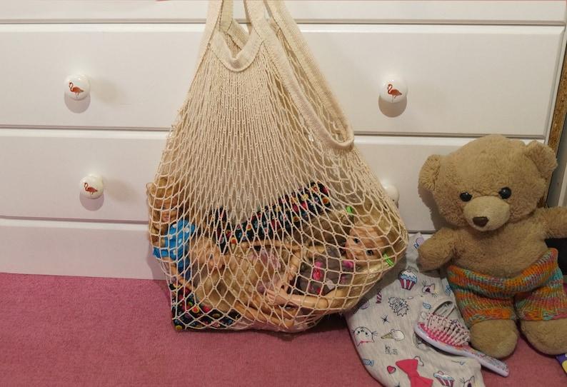 Toy bag children/'s bag shopping net net bag kids tote bag beach bag playground bag sustainability for environment