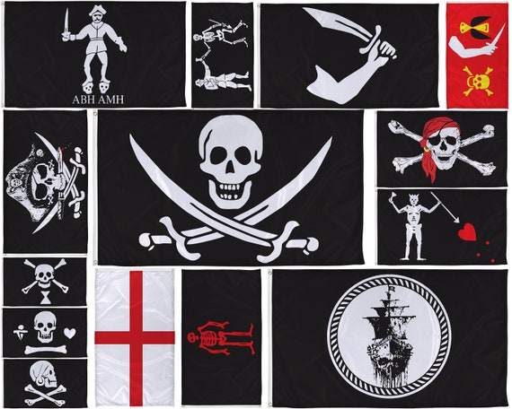 Pirate Jolly Roger Skull and Crossbones Edward Teach 5/'x3/' Flag
