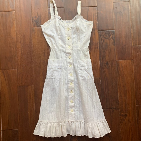 Vintage Eyelet Cotton Dress - image 6