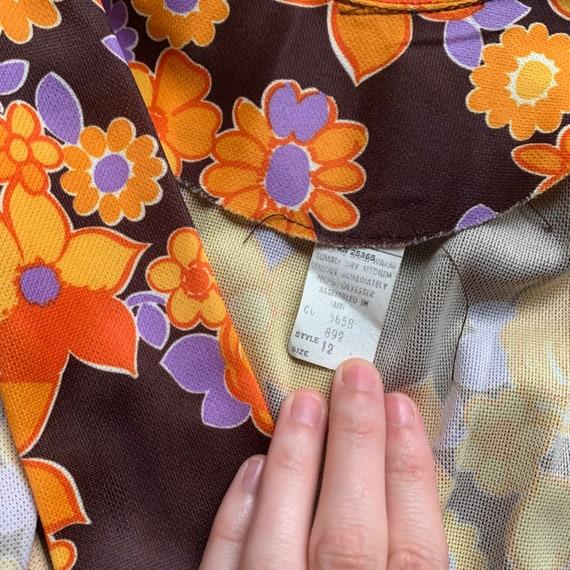 Vintage 70s Mod lavaliere mini dress - image 5
