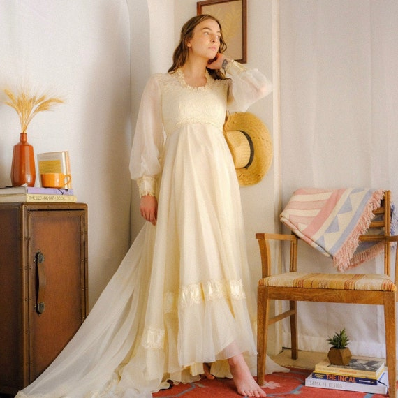 1970s Union Made Wedding Dress