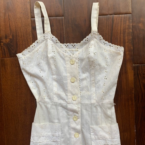 Vintage Eyelet Cotton Dress - image 8