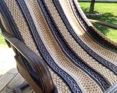 Throwback Blanket Crochet Pattern, Crochet Throw, Blanket Pattern, Throw Pattern, Crochet Decor Pattern, Home Decor Crochet