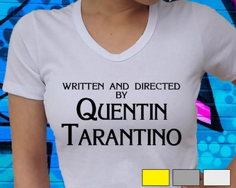 68f6c5f67 Written and directed by Quentin Tarantino T-shirt, Tarantino Shirt, Quentin  Tarantino Tshirt, Yellow Shirt, Unisex adult Tee