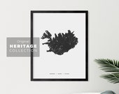 Iceland Map - Printable Map - Heritage Collection