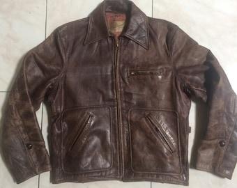 2c0d39649 Hercules Outwear Half Belt By Sears Steerhide Leather Jacket