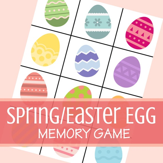 Spring/Easter Egg Memory Game