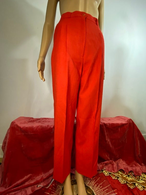70's red polyester slacks dress pants size M