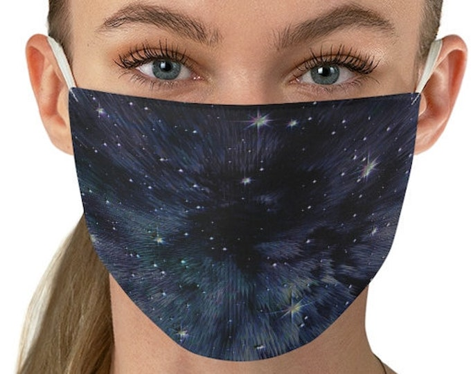 CELESTIAL GALAXY MASK Purple Galaxy Face Mask - Womens Face Mask - Double Fabric Protective Face Mask - Face Covering for Adults - Washable