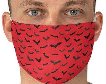 MASKS - HALLOWEEN BAT Print Face Mask for Adults - Reusable and Washable Protective Fabric Face Mask - One Size - Adult Mask - Fall Masks