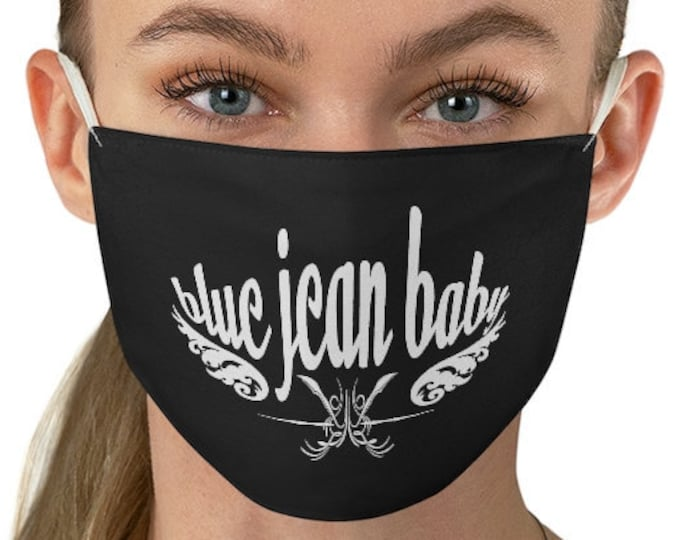 FACE MASK - Protective Face Covering - Adult Face Mask - Blue Jean Baby - Face Mask - Fabric Face Mask - Fitted - One Size - Unisex Adult