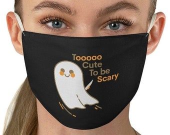 MASKS HALLOWEEN GHOST Funny Halloween Mask for Adults Unisex Humorous Face Mask Reusable and Washable One Size Fabric Face Mask Fall Masks