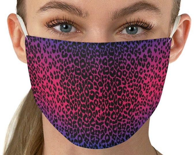 MASKS - CHEETAH Print - Animal Print Face Mask for Adults - Reusable and Washable Protective Fabric Face Mask - One Size - Mask - Fall Masks