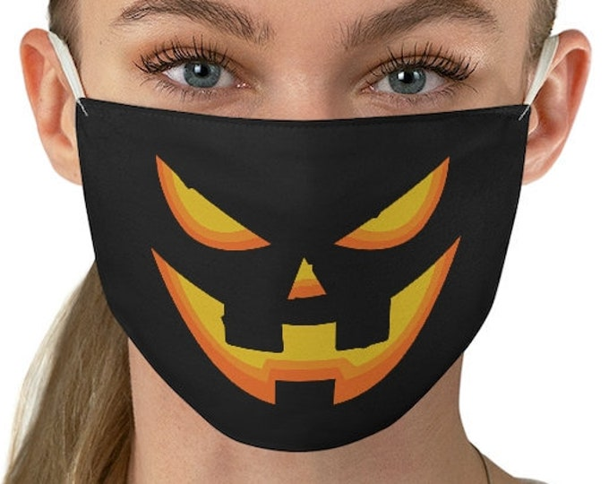 JACK O' LANTERN Mask Halloween Face Mask for Adults Funny Halloween Protective Face Mask Washable and Reusable One Size Fabric Face Mask