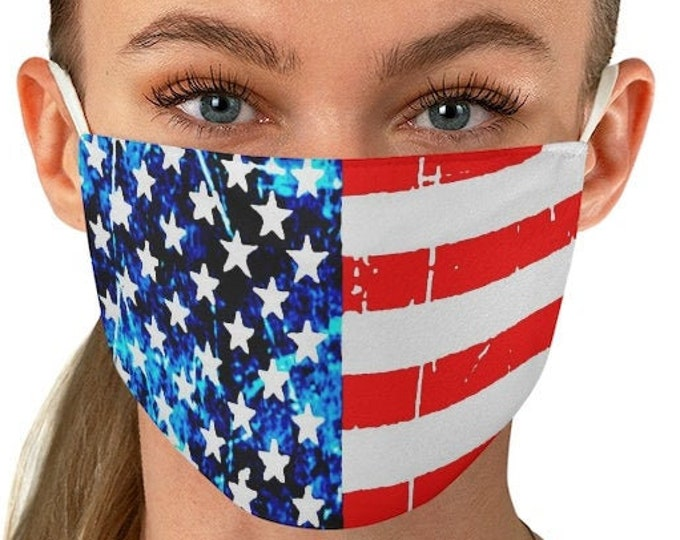 AMERICAN FLAG Mask USA Fabric Face Mask for Adults - 2 layers - Independence Day Face Mask - Fourth of July Mask - America Face Mask