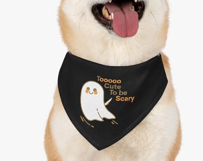 DOG HALLOWEEN COLLAR Ghost Pet Bandana Collar for Halloween Cute Funny Halloween Dog Accessories Dog Outfit for Halloween Pet Costumes