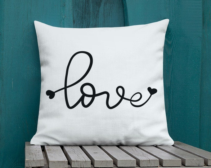 VALENTINES DAY PILLOW Love Romance Decor Home Decor Couch Pillow Decorative Throw Pillow Bed Pillow Square Pillow Premium Pillow