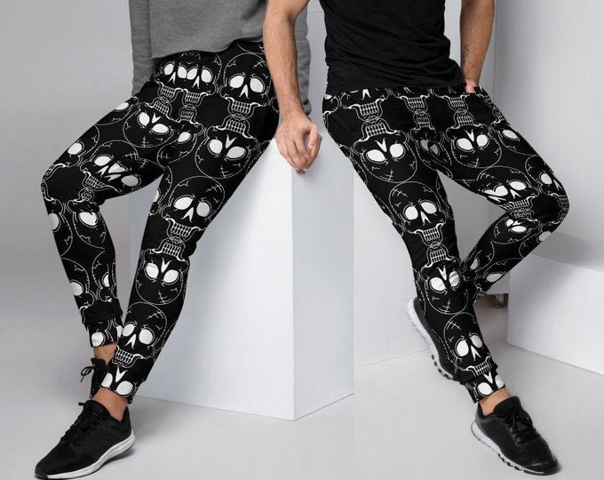 Joggers HALLOWEEN Skull JOGGERS SWEATPANTS for Adults Mens or Womens Unisex Joggers for Men & Women Skull Print Sweatpants Streetwear