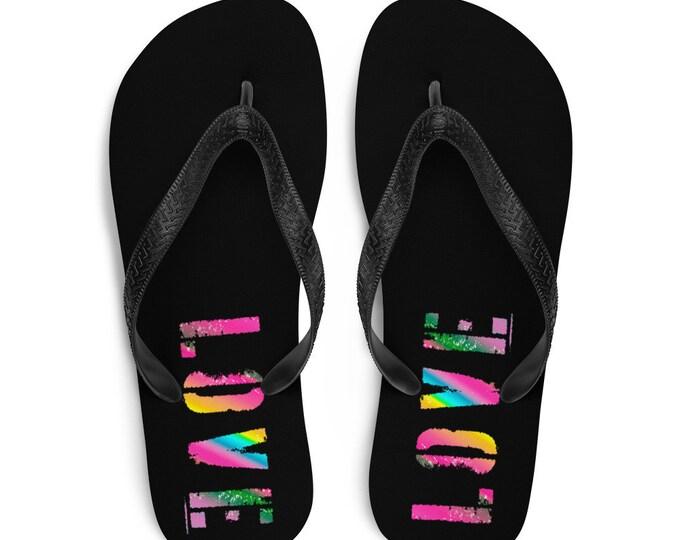 Halloween FLIP FLOPS BAT Print Flip-Flops Purple and Black Thong Sandals Footwear for Men or Women Unisex Clothing Shoes Slide on Flip Flops